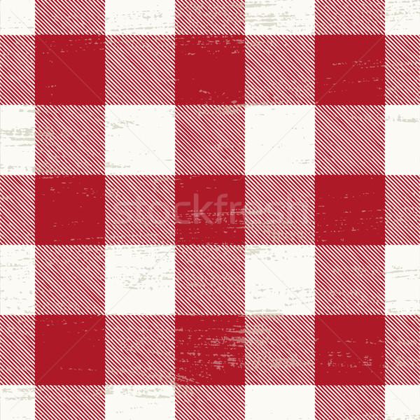 Grunge kırmızı beyaz arka plan vektör Stok fotoğraf © sanjanovakovic