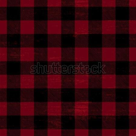 Scratched plaid vector pattern background Stock photo © sanjanovakovic