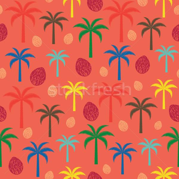 Renkli palmiye ağaçları vektör Stok fotoğraf © sanjanovakovic