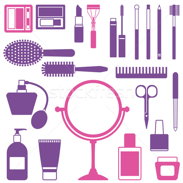 Vetor cosmético objetos beleza cuidar Foto stock © sanjanovakovic