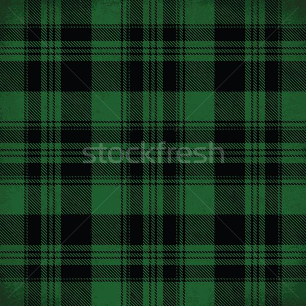 Green vector tartan inspired pattern background 2 Stock photo © sanjanovakovic