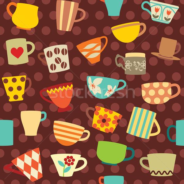 Foto stock: Colorido · pontilhado · café · projeto