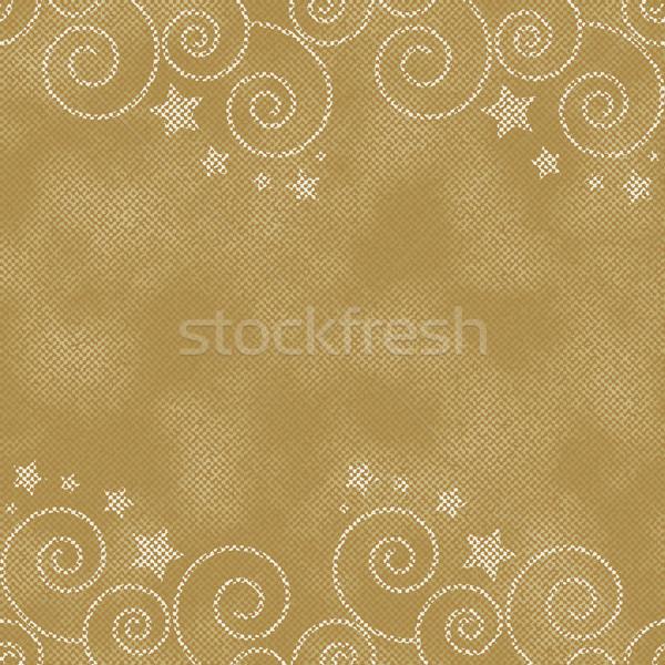 Dorado estrellas vintage jeans fondo Foto stock © sanjanovakovic