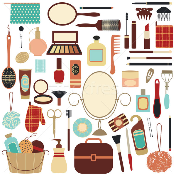 Stock photo: Beauty and care related symbols 2