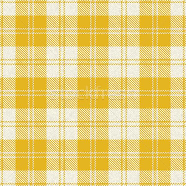 Yellow plaid tartan fabric 1 Stock photo © sanjanovakovic