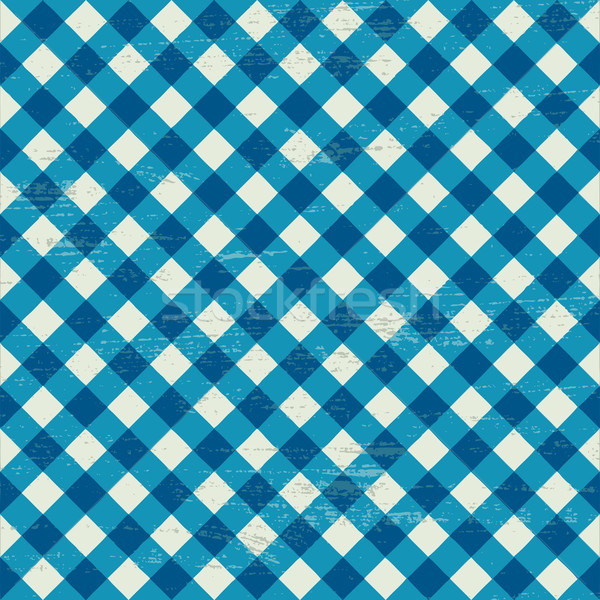 Scratched blue and white checkered background Stock photo © sanjanovakovic