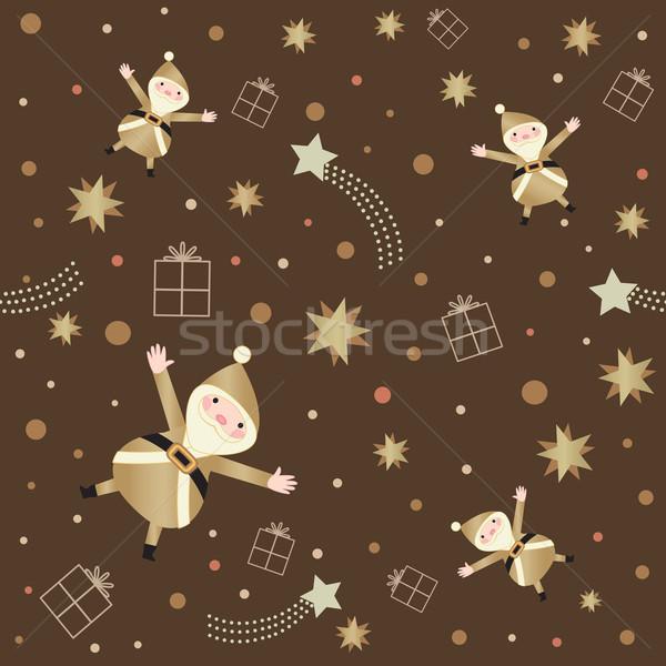 Retro Yıldız karanlık kahverengi Stok fotoğraf © sanjanovakovic