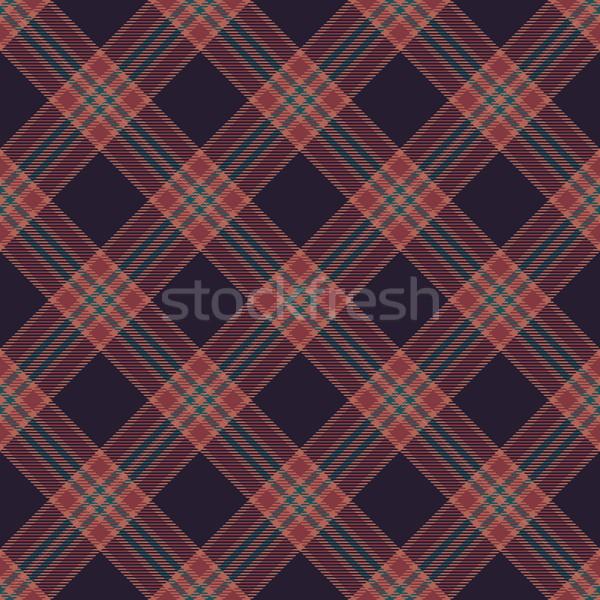 Retro diagonal tartan inspired seamless pattern background Stock photo © sanjanovakovic