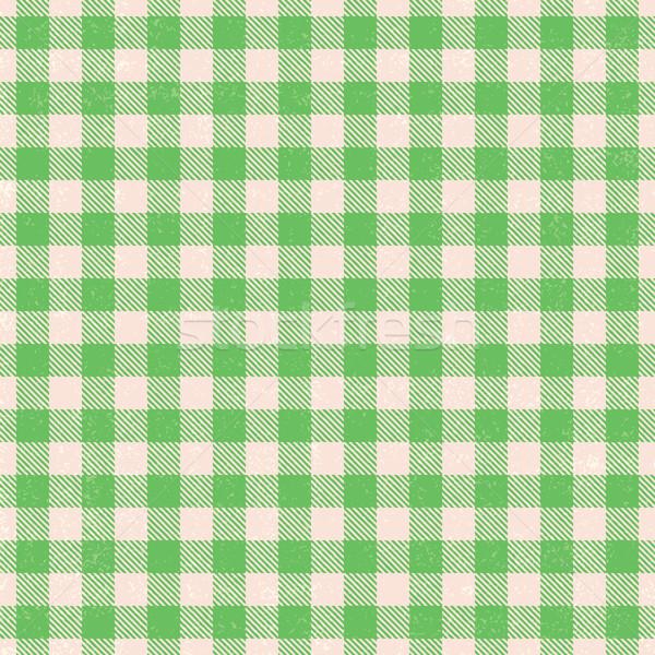 Green plaid textured gingham vector pattern background Stock photo © sanjanovakovic