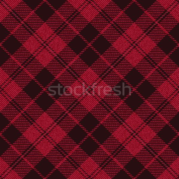 Red plaid tartan fabric 1 Stock photo © sanjanovakovic
