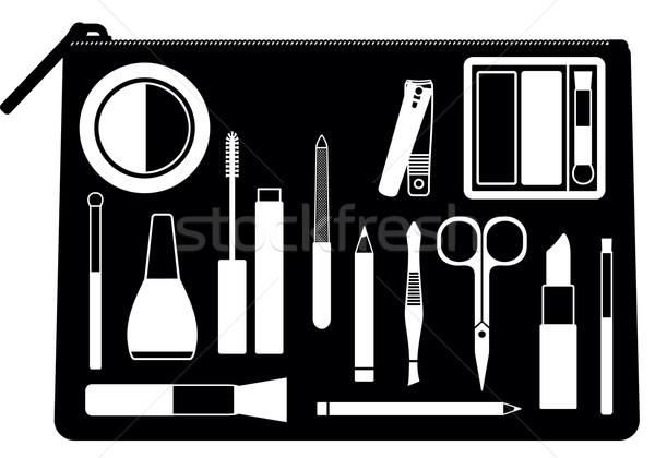 Stockfoto: Cosmetische · zak · schoonheid · zorg · tools