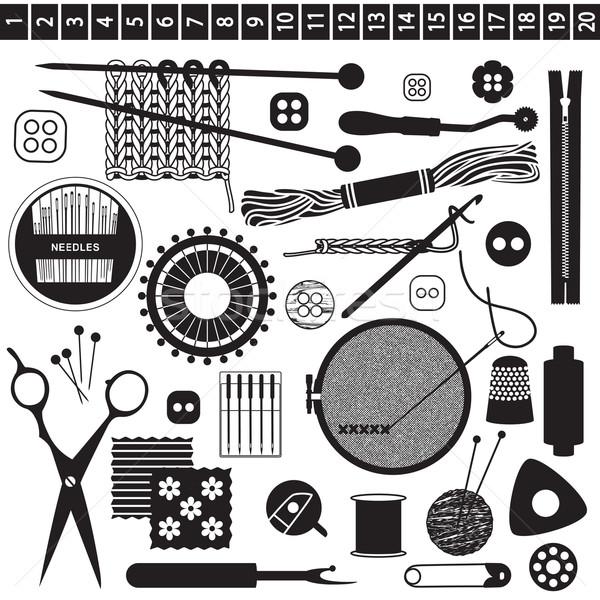 Sewing and needlework related symbols   Stock photo © sanjanovakovic