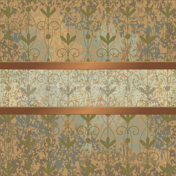 Vintage background with floral pattern Stock photo © sanjanovakovic