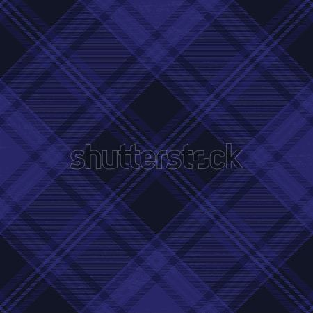 Dark blue tartan diagonal pattern background 3