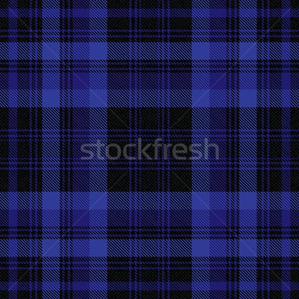 Tartan inspired black and blue vector background Stock photo © sanjanovakovic