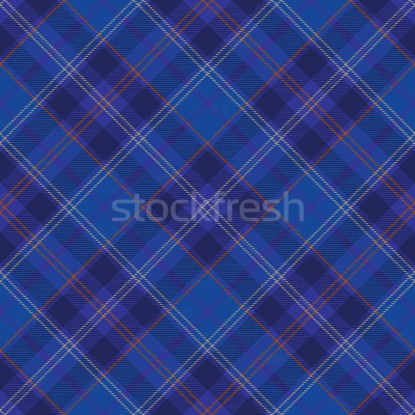Tartan inspired grunge diagonal plaid pattern background 7 Stock photo © sanjanovakovic