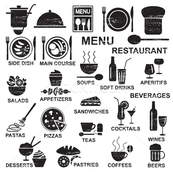 Сток-фото: ресторан · меню · различный · напитки