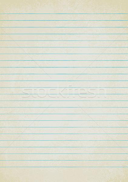 Vintage lined paper sheet vector background 2 Stock photo © sanjanovakovic