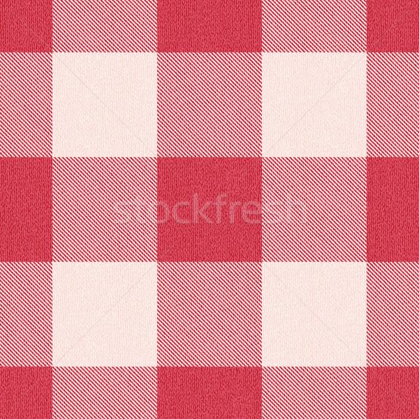 Red textured gingham inspired pattern background 2 Stock photo © sanjanovakovic