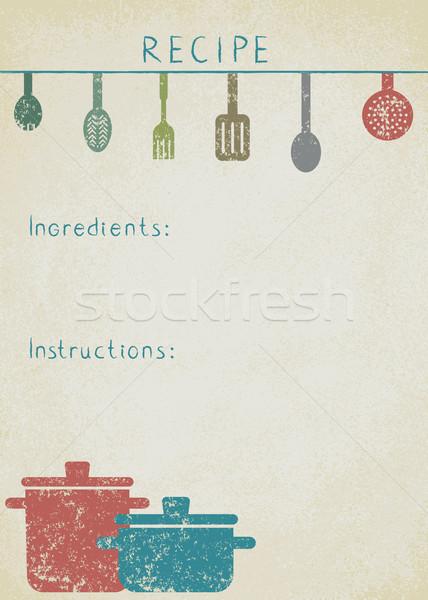 Vintage background for cooking recipes 6 vector illustration