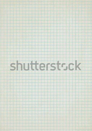 Vintage squared paper sheet vector background 2 Stock photo © sanjanovakovic