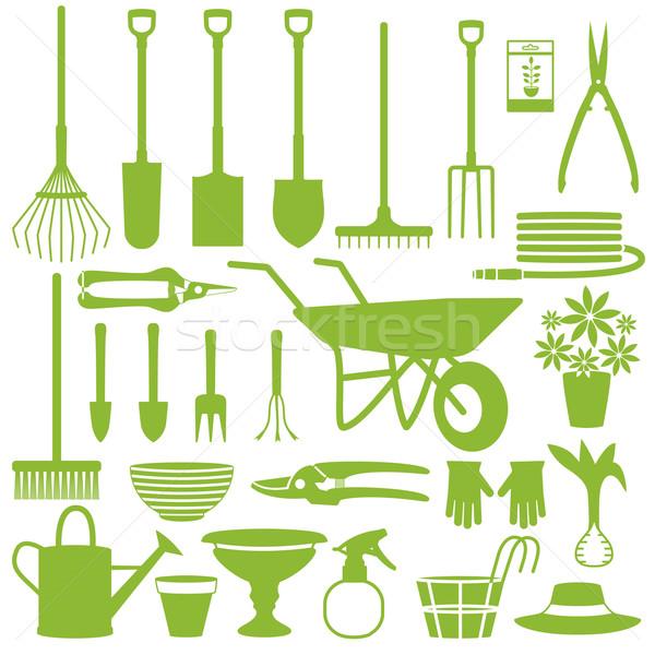 садоводства иконки различный вектора силуэта набор Сток-фото © sanjanovakovic