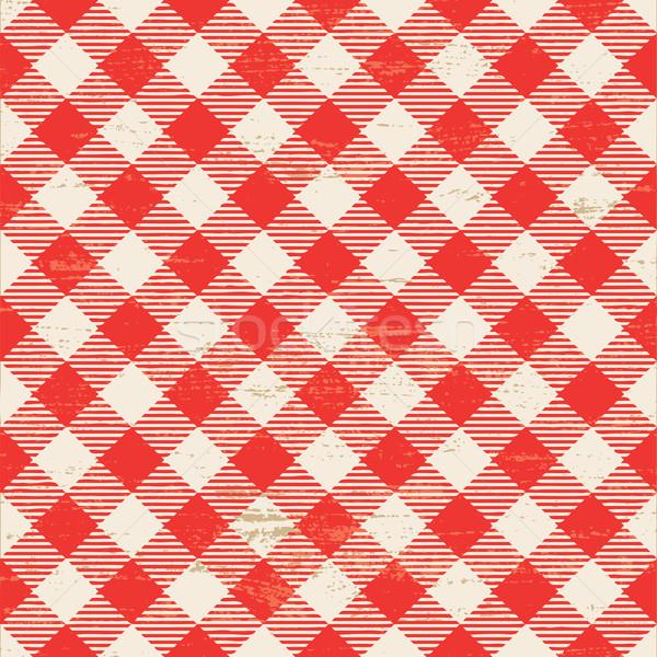 Bağbozumu kırmızı beyaz vektör model Stok fotoğraf © sanjanovakovic