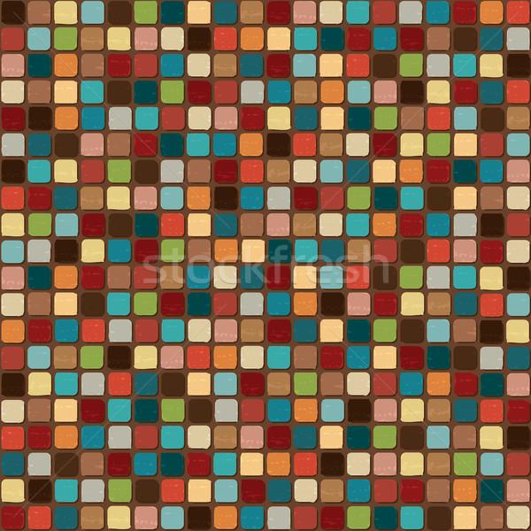 Renkli mozaik duvar arka plan model vektör Stok fotoğraf © sanjanovakovic