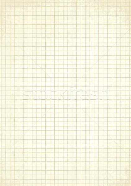 Vintage squared paper sheet vector background 1 Stock photo © sanjanovakovic