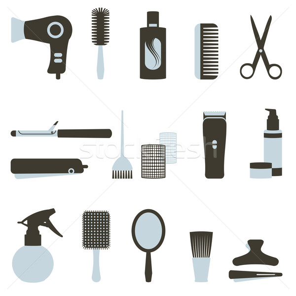 Hairdressing related objects set Stock photo © sanjanovakovic