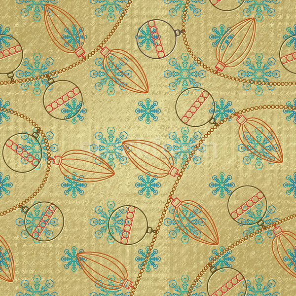 Seamless pattern with Christmas ornaments 1 Stock photo © sanjanovakovic