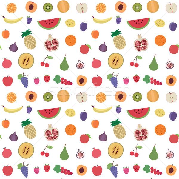 Meyve vektör meyve çilek Stok fotoğraf © sanjanovakovic