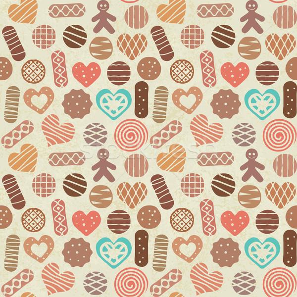 Bağbozumu şekerleme kurabiye parti arka plan Stok fotoğraf © sanjanovakovic