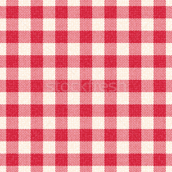 Red and white textured gingham vector pattern background Stock photo © sanjanovakovic