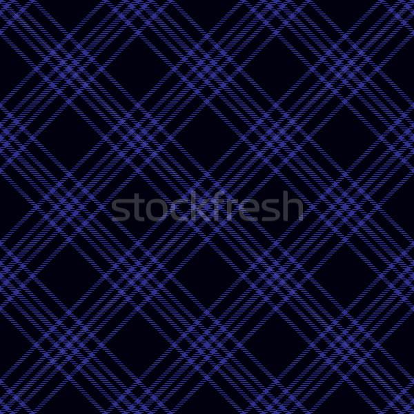 Blue diagonal tartan inspired seamless pattern background Stock photo © sanjanovakovic