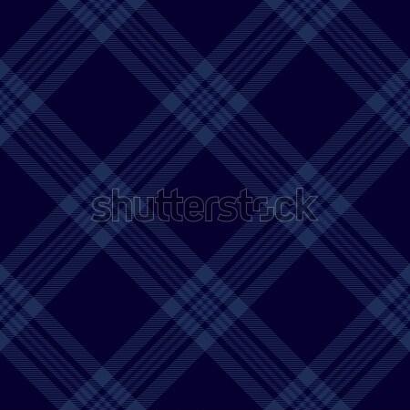 Dark blue tartan diagonal pattern background 2 Stock photo © sanjanovakovic