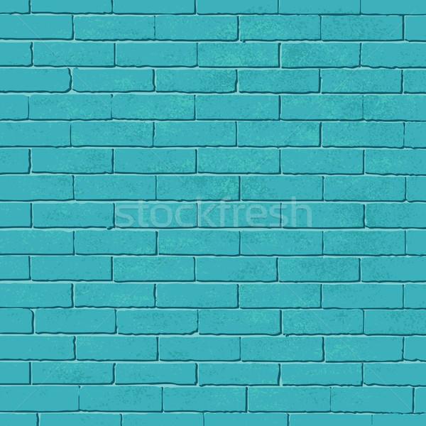 старые синий кирпичная стена вектора стены улице Сток-фото © sanjanovakovic