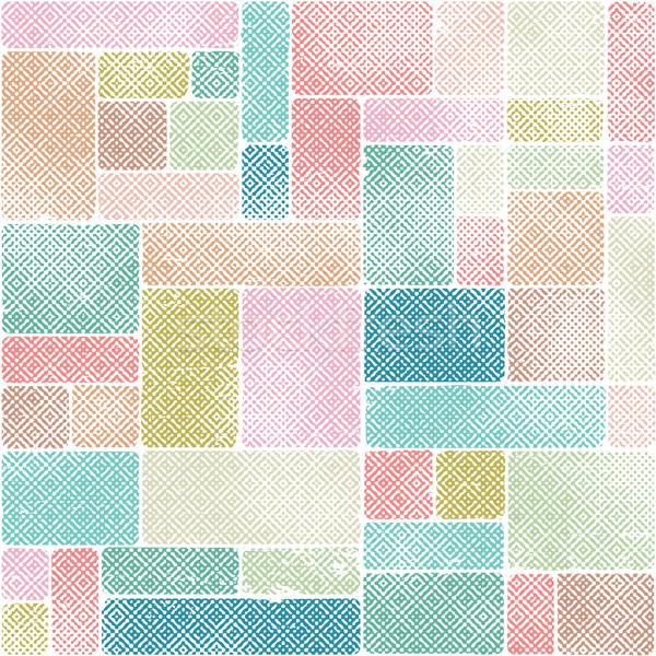 Resumen vector pastel colores azulejos patrón Foto stock © sanjanovakovic