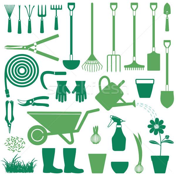 Gardening related vector icons 2 Stock photo © sanjanovakovic