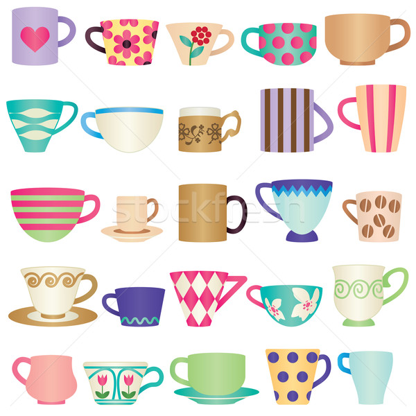 Various colorful cups Stock photo © sanjanovakovic
