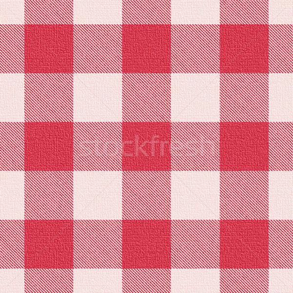 Red textured gingham pattern background 3 Stock photo © sanjanovakovic