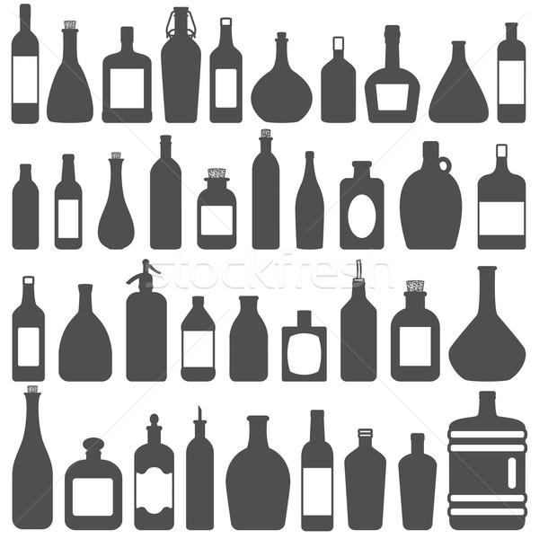 şişeler vektör siluet Stok fotoğraf © sanjanovakovic