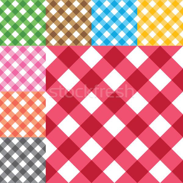 Vektör diyagonal sekiz farklı renkler Stok fotoğraf © sanjanovakovic