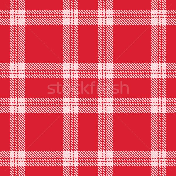 Vector red and white plaid tartan pattern background Stock photo © sanjanovakovic