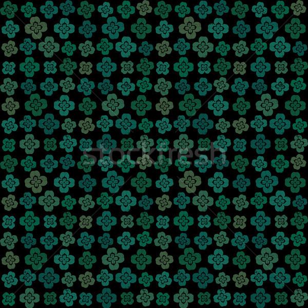 Decorative four leaf clover vector seamless pattern background Stock photo © sanjanovakovic