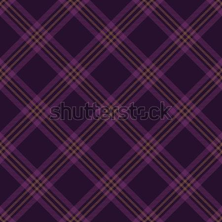 Purple tartan diagonal seamless pattern background