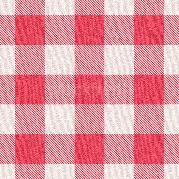 Red textured gingham pattern background 1 Stock photo © sanjanovakovic