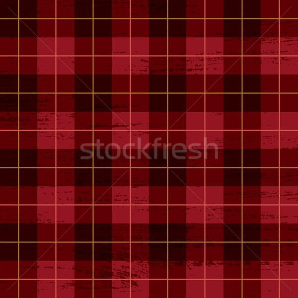 Red scratched plaid tartan pattern Stock photo © sanjanovakovic