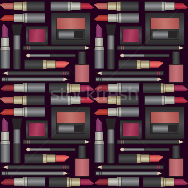 Vetor make-up objetos fundo feminino Foto stock © sanjanovakovic