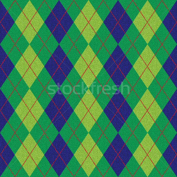 Blue and green textured argyle pattern inspired vector background Stock photo © sanjanovakovic